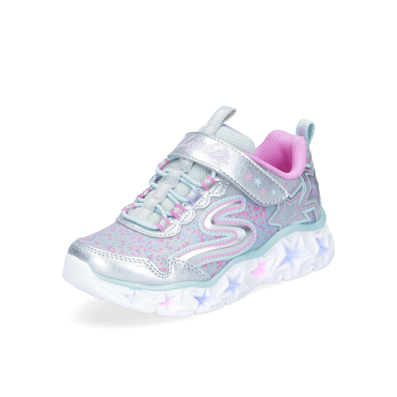 SKECHERS Galaxy Lights Kinder Klett-Sneaker